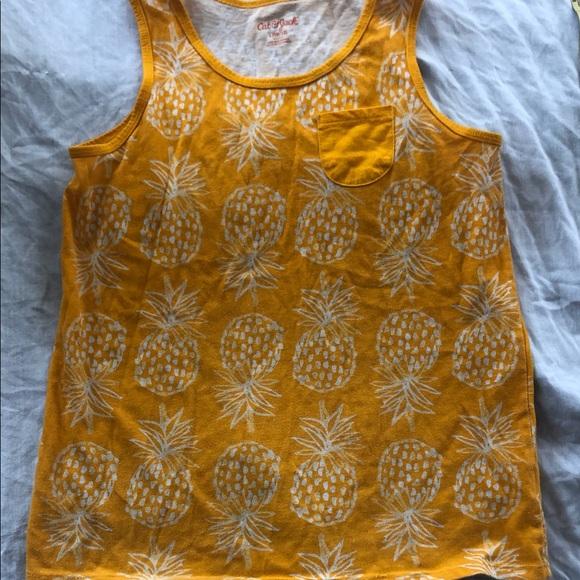Girls 10/12 gold pineapple tank